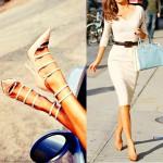 Самые красивые модели бежевых туфель лодочек на фото