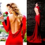 Великолепные красные платья с открытой спиной