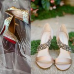 Очаровательные золотые туфли на фото, и с чем их носить
