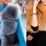 Женские меховые жилетки: на фото модели из лисы, чернобурки и норки