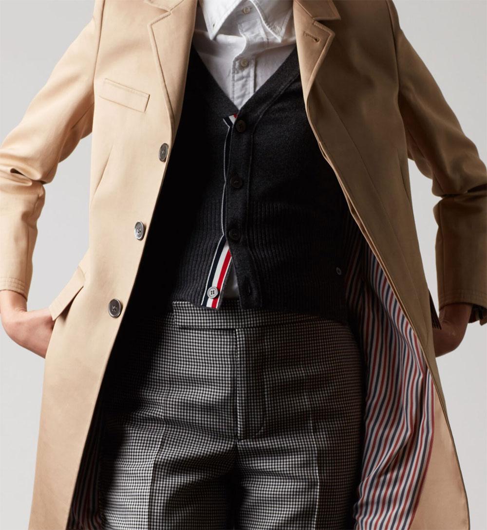 универсальное бежевое пальто