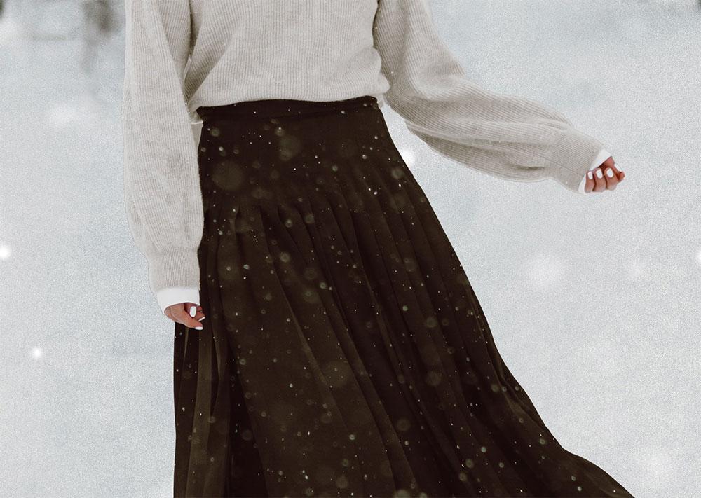 фото длинной черной юбки