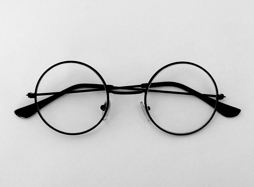 прозрачные круглые очки