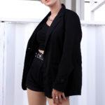 Модные длинные модели женских пиджаков на фото