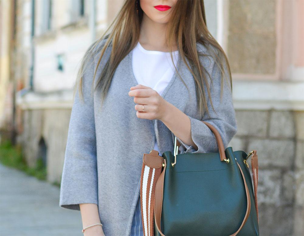 стильная серая кофта-пиджак